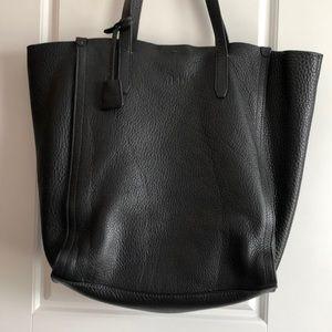 J. Crew black Italian leather tote